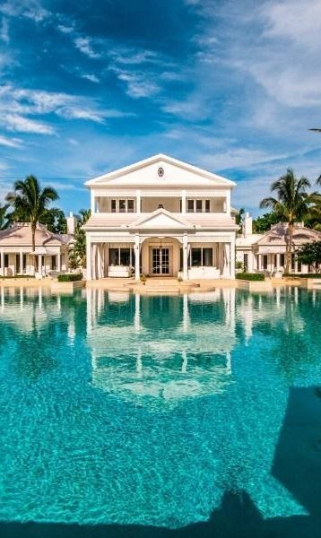 World of architecture custom built celebrity home for - Celine dion swimming pool ...