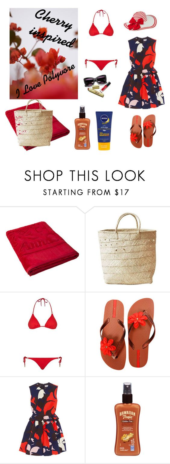 Untitled #2 by simonette-lubbe on Polyvore featuring Delpozo, Melissa Odabash, IPANEMA, Indego Africa, Hawaiian Tropic, Nivea and GUINEVERE: