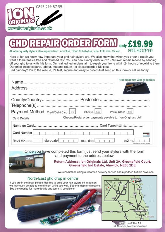 Print Off Our Salon Ghd Repair Form And Get Exclusive Repair Price