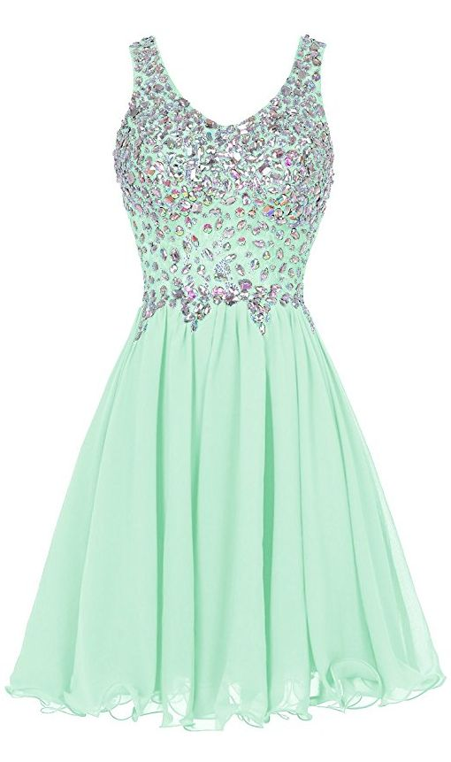 Tideclothes Chiffon Straps Prom Dress Short Beading Evening Party Http Www Dp B013wup1qw Ref Cm Sw R Pi Awdm E6iawb02c7mb8 Pinterest
