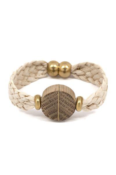 Woven Bracelet with Chevron Bead