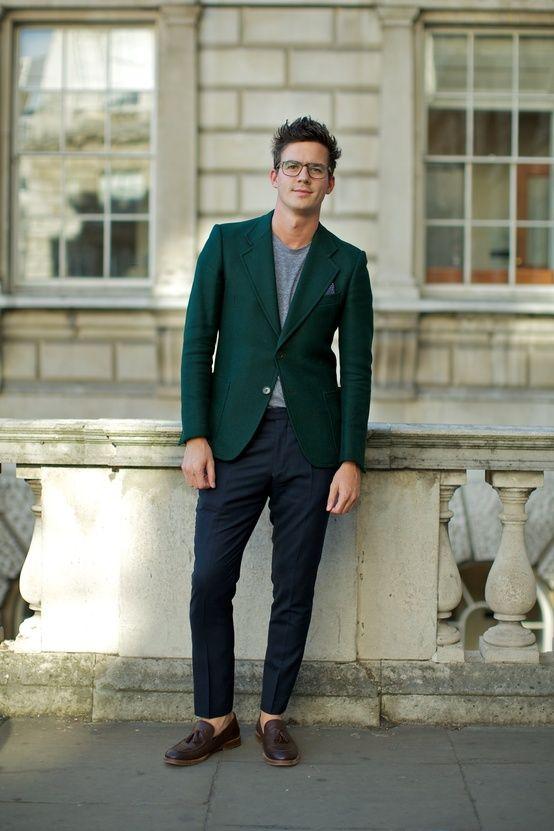 Green Blazer Men