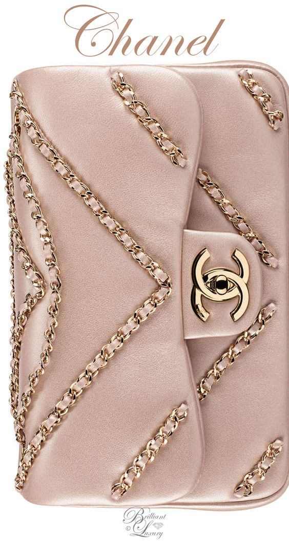 Brilliant Luxury ♦ Chanel Light Gold Metallic Lambskin Flap Bag FW 2016/17