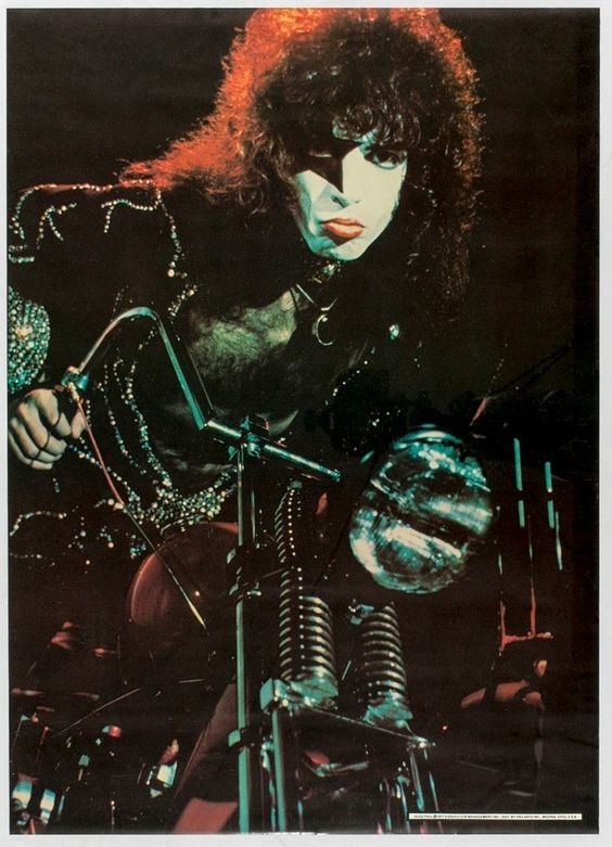 Bozk Paul Stanley motocykla Plagát '77 SEALED | eBay