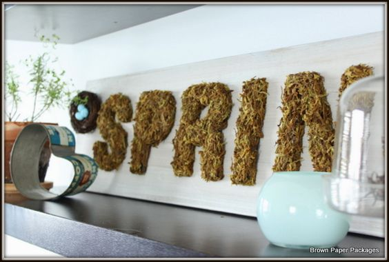 Mossy Spring Sign!!! :)