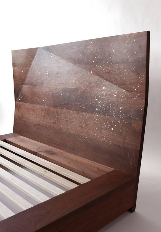 Jewel Queen Bed By Asher Israelow In Black Walnut And Solid Brass