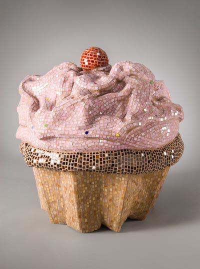 mosaic cupcake