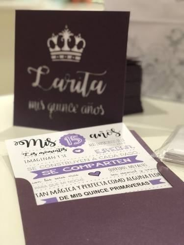 Invitaciones Tarjetas 15 Años Casamientos Caladas X70