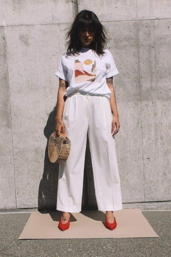 Wide leg tailored trouser ivory Mijeong Park now on sale! | pipe and row - PIPE AND ROW www.pipeandrow.com #pipeandrow #notyouraveragestaple @pipeandrow