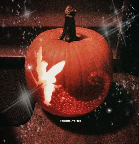 Tinkerbell pumpkin pumpkins and tinkerbell on pinterest for How to carve tinkerbell in a pumpkin