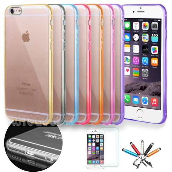 Apple iPhone 6 / 6 Plus Case Slim Transparent Crystal Clear Hard TPU Cover  #49 #UnbrandedGeneric