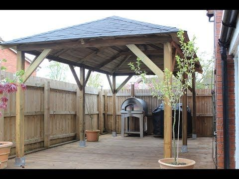 How To Build Backyard Canopy Under 50 Part 2 Affordable Cheap And Easy Backyard Tarp Canopy Youtube Canopy Outdoor Diy Gazebo Backyard Canopy