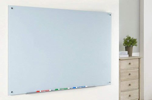 Magnetic Glass Dry Erase Board Set With Aluminum Marker Tray Glass Dry Erase Glass Dry Erase Board White Board Glass magnetic dry erase board