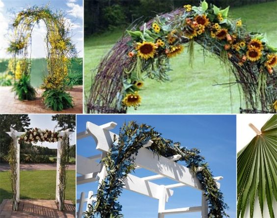 Arches, Arbors And Sunflowers On Pinterest