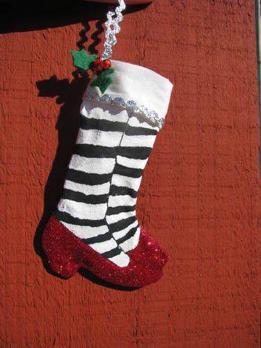 ruby red slipper mini stocking