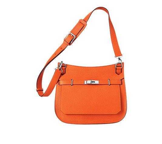 Jypsiere 28 Hermes unisex shoulder bag in fire orange taurillon ...