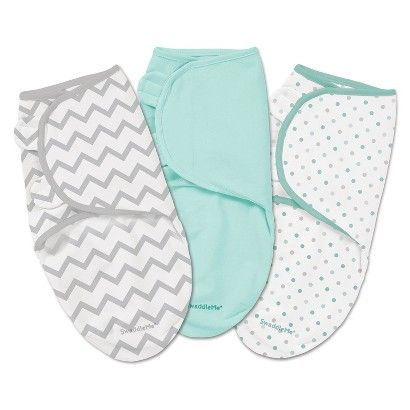 Summer Infant® SwaddleMe® Swaddles - 3 pack - Grey