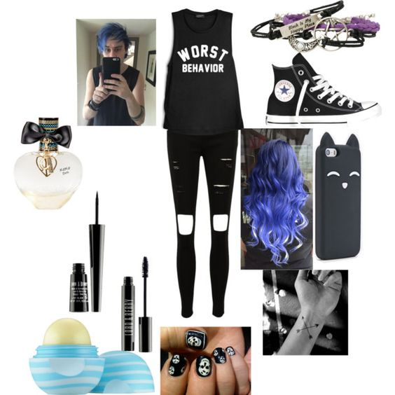 Concert with Michael by fandom-life on Polyvore featuring polyvore fashion style Converse Lord & Berry Aéropostale Eos Alexander McQueen