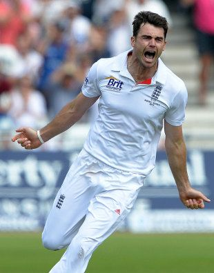 James Anderson secured victory for England with his tenth wicket in the match © Getty Images   Enlarge