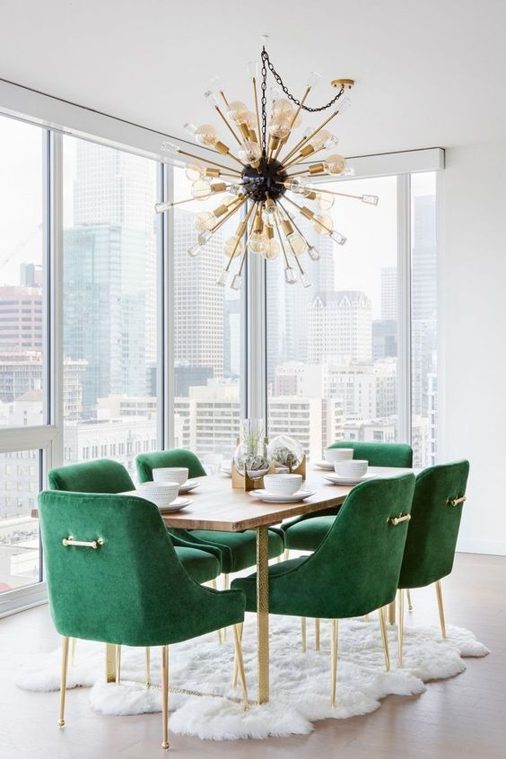 Top 25 Dining Chairs Working In A Dining Room Project Anything Is Possible With A Bit Of Crea Green Dining Room Dining Room Contemporary Dining Room Design