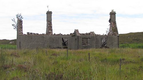 Derelict House On The Isle Of Scalpay .