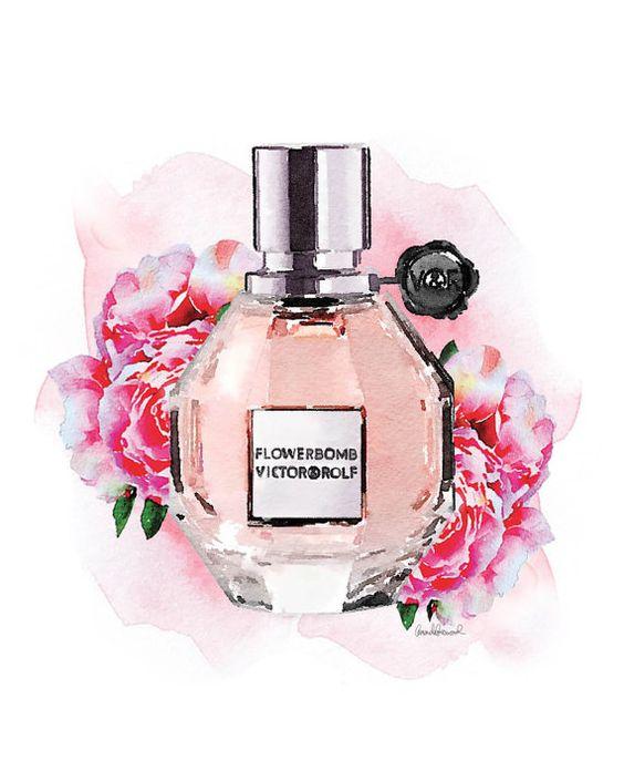 Parfum de fleur bombe aquarelle aquarelle pivoine rose for Parfum de chambre
