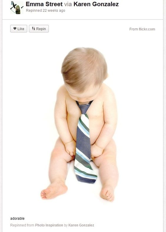 Baby Photography Ideas Props Grownup Tie