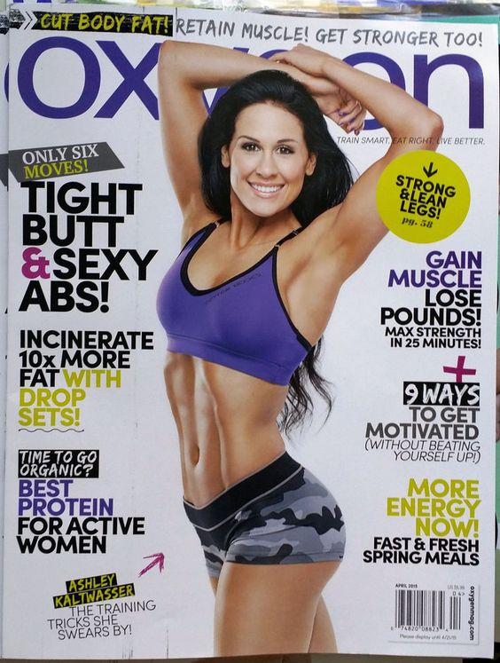 ASHLEY KALTWASSER Oxygen Magazine April 2015 Health & Fitness Sports Diet Food