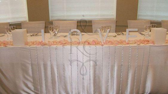 Simple bridal table decor...