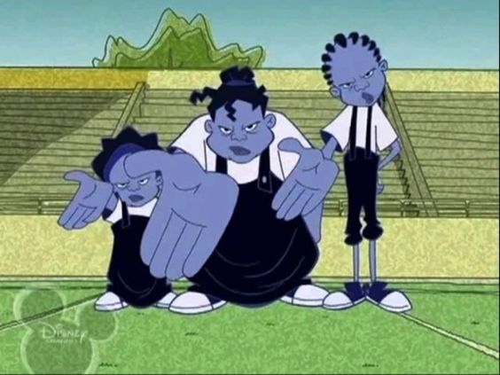 "And the Gross sisters. They aren't actually that weird (your average high school bullies) but why were they blue?? | 26 Reasons ""The Proud Family"" Was Awesome"