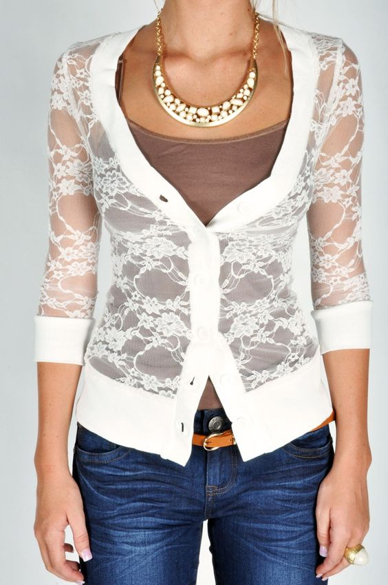 Lacey Cardigan - White. Love!