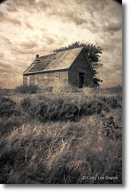 Abandoned oklahoma and schools on pinterest - The house in the abandoned school ...