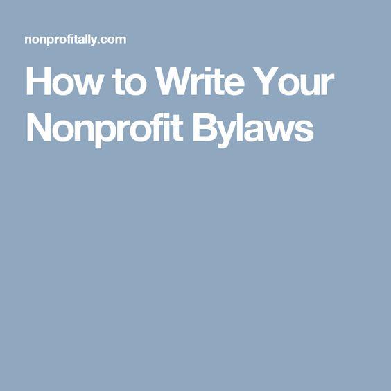 Nonprofit Sample Documents-bylaws PET EDU Pinterest - articles of incorporation template