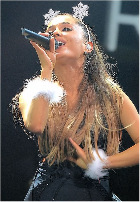 Ariana performs onstage during Y100's Jingle Ball 2014 at BB&T Center on December 21, 2014 in Miami, FL.