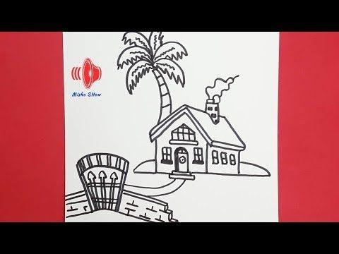 رسم البيوت التراثية للمبتدئين رسم بيت شعبى كيفية رسم بيت للاطفال جميل خطوة بخطوة Youtube Home Decor Decals Home Decor Decor