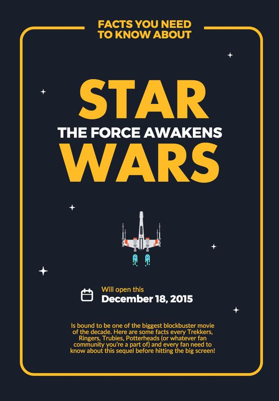 Create your own starwars theforceawaken poster with our new create your own starwars theforceawaken poster with our new pro poster template create your pro infographic poster at piktochart pinterest pronofoot35fo Gallery