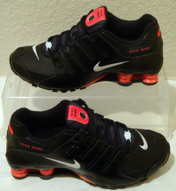 black and red nike shoes