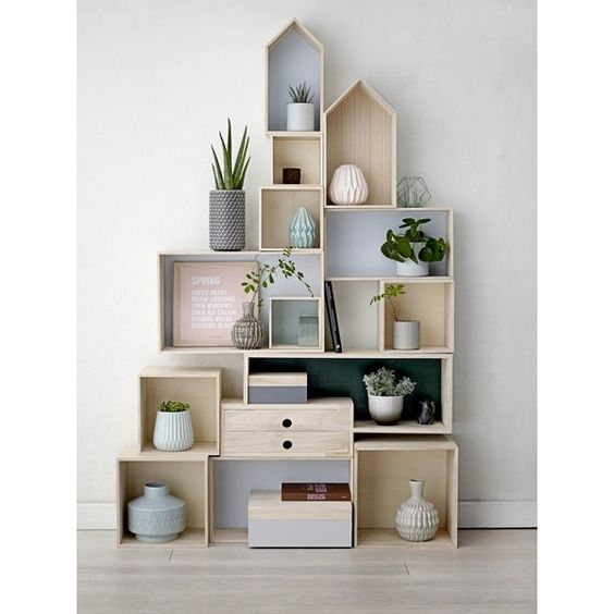 bloomingville etag re murale bo te maison 508061 astuces. Black Bedroom Furniture Sets. Home Design Ideas