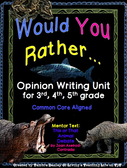 Opinion essays for 4th grade