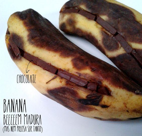 Ricota Não Derrete: {cozinha para preguiçosas} Banana com chocolate
