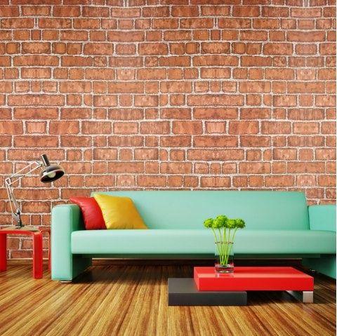 Fashion Brick Pattern Waterproof Self Adhesive Wallpaper Brick Patterns Furniture Sale Self Adhesive Wallpaper