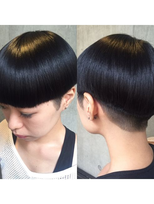ビビト Bibito Bibito お客様ヘア キッチリマッシュ 短い髪のためのヘアスタイル ヘア 刈り上げボブ