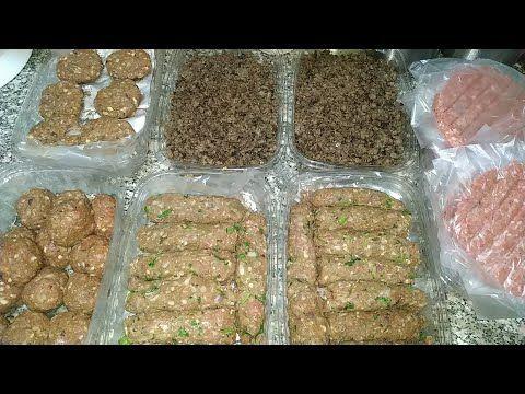 تفريزات كتير من اللحمة المفرومة وفرى وقتك فى المطبخ تجهيزات رمضان يوميات ام البنات Youtube Food Meat Beef