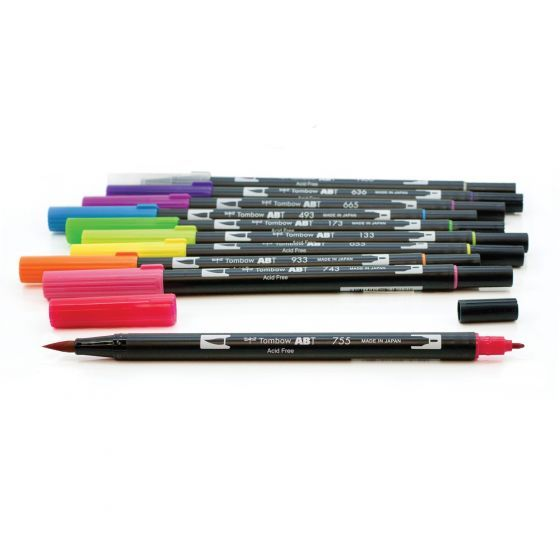 Dual Brush Pen Art Markers Bright 10 Pack Art Illustration