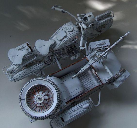 Khung sườn xe sidecar.