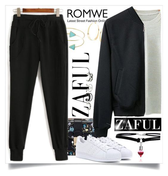 """ZAFUL"" by beautifulsunshine1 ❤ liked on Polyvore featuring Lana and adidas"