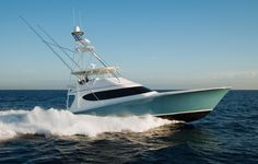 Hatteras GT70 - Hatterascal  The folks at Hatteras are excited to be back on top of the game with the GT70 and its performance on the fishing grounds. The GT70 is stable at cruise and very comfortable on the bridge and below. She backs faster than most anglers could ever wind, and she can spin and back with enough agility to catch plenty of blue marlin.   Photo Courtesy Hatteras Yachts