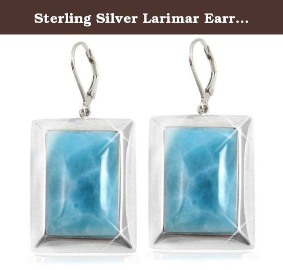 Sterling Silver Larimar Earrings (BTS-NEA3046/LR/R). Gorgeous sterling silver larimar earrings from our very special new collection. 30 day satisfaction guarantee!.