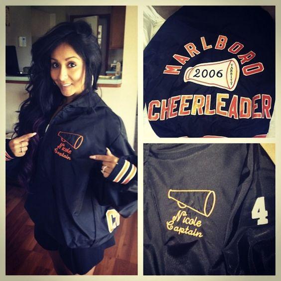 Nicole Snooki Polizzi - High School Varsity Cheer Jacket ...