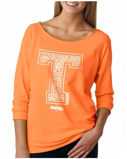 Women's Tennessee Paisley T Longsleeve Tee - Neon Orange http://www.countryoutfitter.com/products/92662-womens-tennessee-paisley-t-longsleeve-tee-neon-ora